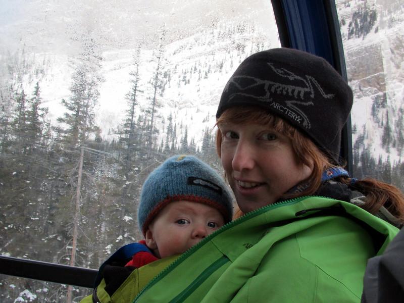 <b>1 Dec 2010</b> Finn's first trip in the Gondola