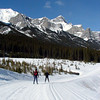 Mt Rundle in the background, a perfectly groomed track, and a nice warm clear day