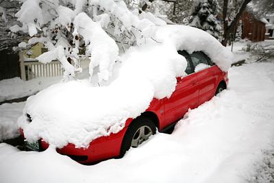 BOULDER, CO - Halloween snow storm 2009.