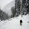 <b>20 Dec 2009</b> Heading up to Grizzly Shoulder, Rogers Pass