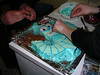 "18.8.2006.  Megan and Corey decorating the Bender cake <br><font size=""1"">© <a href=""http://shogun.smugmug.com"">Alex Cohen</a></font>"