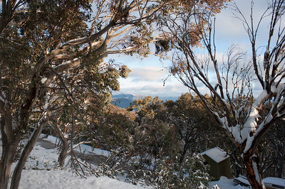 View from our room, Schuss Lodge, Mt Buller.