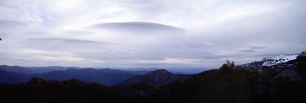 View from Schuss Lodge with some spectacular cloud formations not long before sunset.