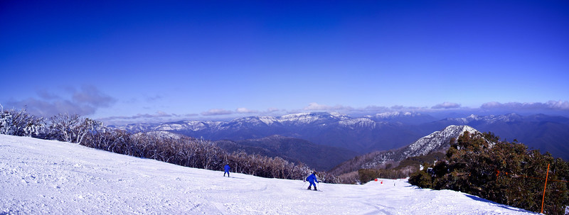 Stitched Panorama from Little Buller Spur, Mt Buller.