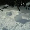 4 July 2004.  Bluff Spur Hut snow-sofa