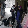 12 Sept 2004. Vashti admires Megan's new skis.