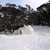4 July 2004.  Bluff Spur Hut igloo