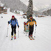 <b>26 October 2012</b> Skiing up from Sunshine Village to Rock Isle Lake