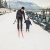 <b>21 October 2012</b> Finn and Mama skiing at Frozen Thunder, Canmore Nordic Centre