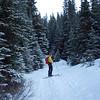 <b>5 Nov 2011</b> Joel on the way up to Elbow Lake