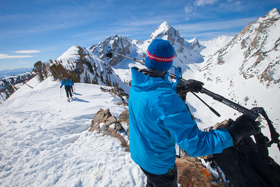 JACKSON HOLE, WY - 25 Short & Turkey Chute: Backcountry skiing with Exum Guides and Marmot testing Polartech Alpha