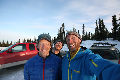 WHITE MOUNTAINS, AK - Post trip pose. Nathaniel, Joe and Cameron.