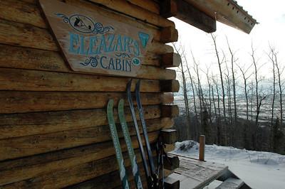 WHITE MOUNTAINS, ALASKA. Elezar's Cabin.