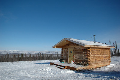 WHITE MOUNTAINS, ALASKA. Crowberry Cabin.