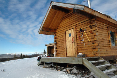 WHITE MOUNTAINS, ALASKA. Elezar's Cabin.
