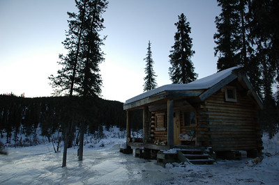 WHITE MOUNTAINS, ALASKA. Windy Gap Cabin