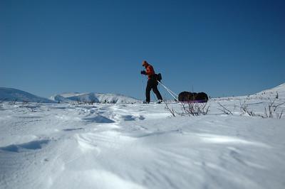 WHITE MOUNTAINS, ALASKA. Cresting Cashe Mountain Divide.