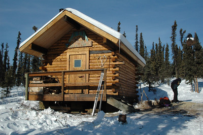 WHITE MOUNTAINS, ALASKA. Borealis-LeFerve Cabin