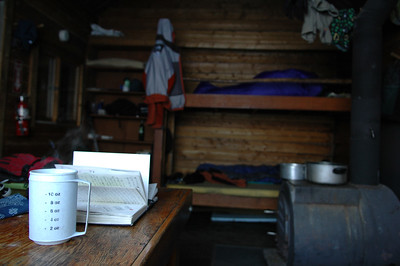 WHITE MOUNTAINS, ALASKA. Moose Creek Cabin - Journaling with tea while Nathaniel still sleeps.