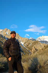 Peter scans the scene in the morning light and thinks about the trek ahead.