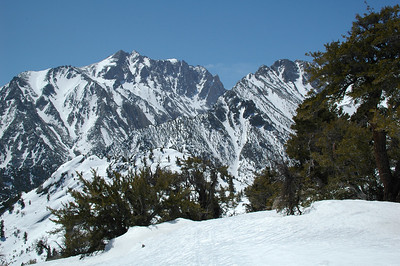 Atlas Trans-Sierra Snowshoe Trek. Five Days; 45 Miles; 12,500 feet vertical gain; 10,800 feet vertical loss; Symmes Creek (Independence, CA) to Wolverton Ski Area (West side of Sequoia National Park). Trekkers: Daniel Emerson, Peter Chapman, Teri Smith, Cameron Martindell. Support Crew: Karen Righthand, Stacey Lee.