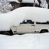 The Jeep on Friday morning.  A silly amount of snow.
