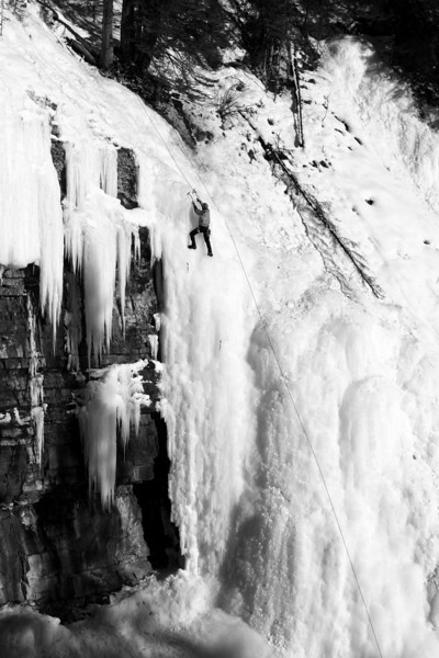 We took the detour to Johnston Canyon to see what condition the ice was in - there were only two people climbing