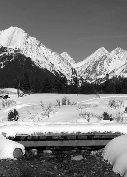 Bridge and mountains