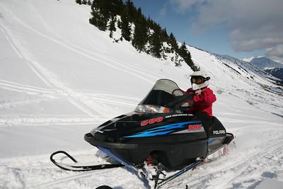 TURNAGAIN PASS, AK - Snowmachine tour with Alaska Backcountry Access.