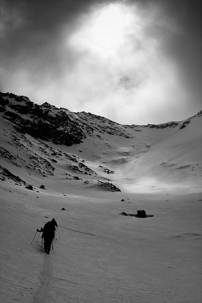Group of skiers approaching Brändjigletscher, Wallis, Swiss alps
