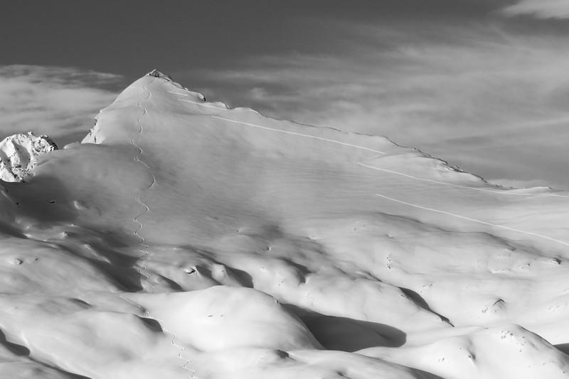 Single track on and off Cima di Lago, Ticino, Swiss alps