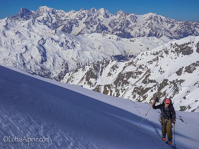 Mid-Tour....Haute Route Ski Tour, European Alps
