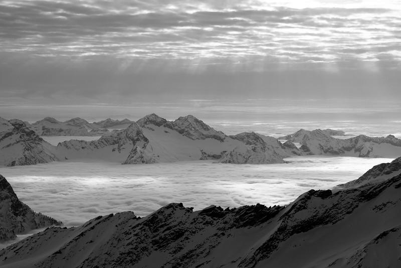 Panorama from the summit of Cristallina, Ticino, Swiss alps