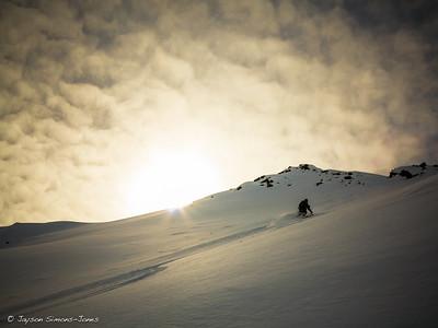 Sunset Skiing....Thompson Pass, AK