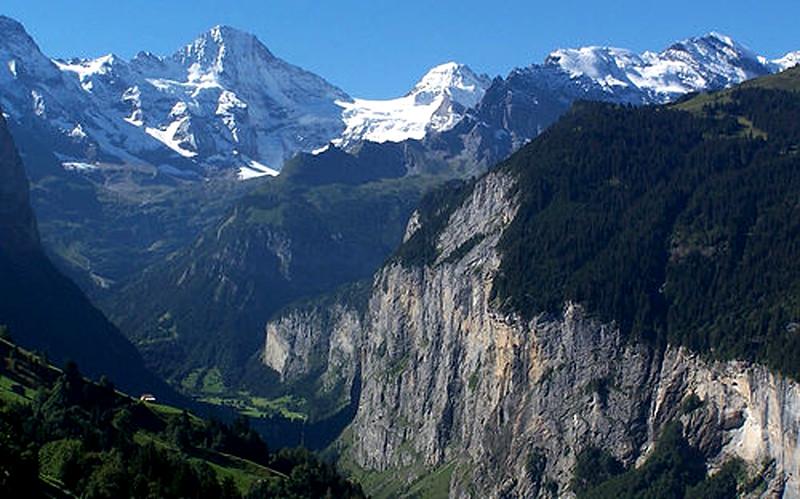 The Lauterbrunnen Valley from Wengen
