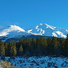 Mount Shasta on the drive up Everette Memorial Highway.