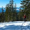 Climbing up the Green Butte Ridge Route.