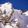 Andy Earl scoping for potential lines in the Little Cottonwood Canyon backcountry.