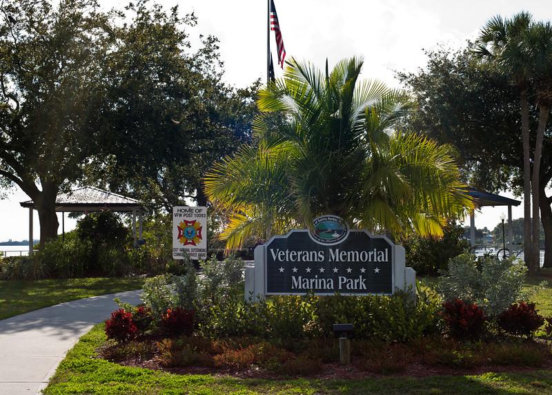 Very nice Veterans Memorial down by the Marina.