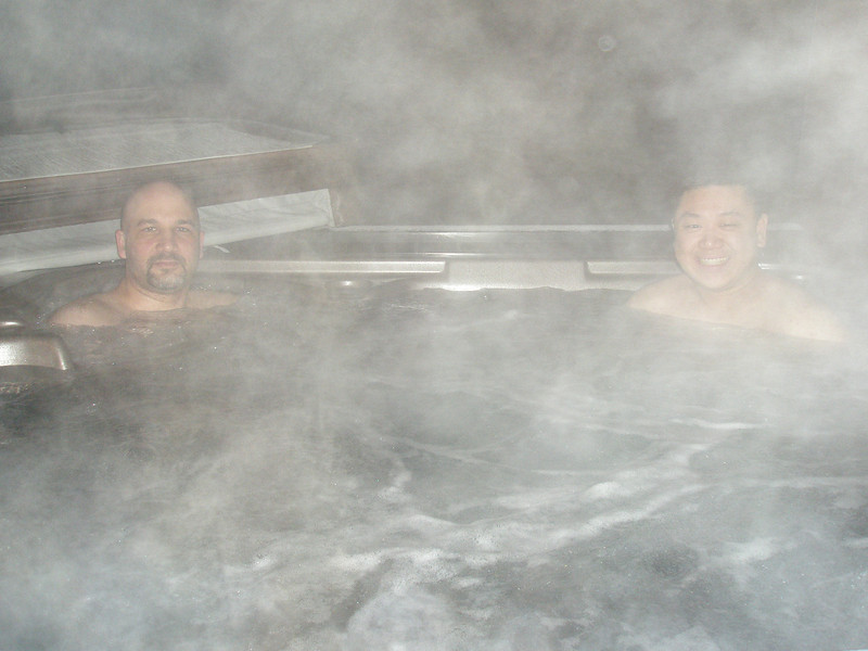 First evening on the mountain - nice soak in the hot tub to start the weekend!
