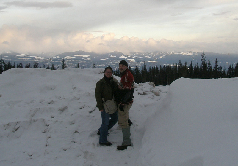The Monashee Mountains in the background.
