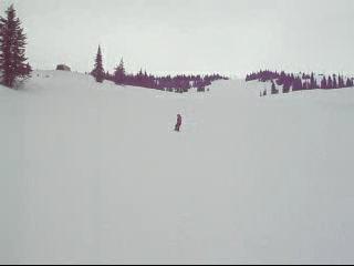 Kristoff snowboarding