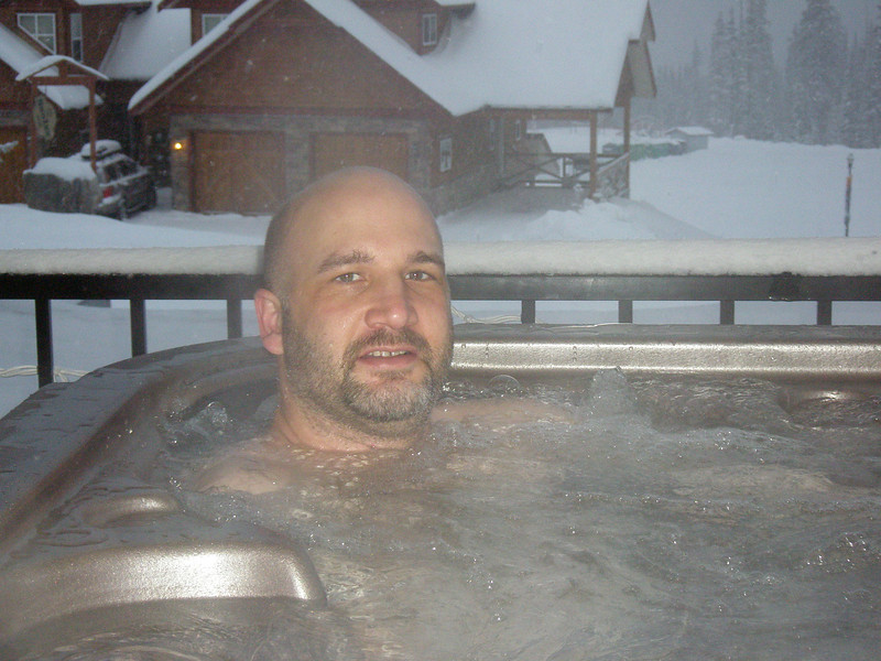 Relaxing in the hot tub! :)
