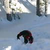 Anne-Gi struggling up a steep slope