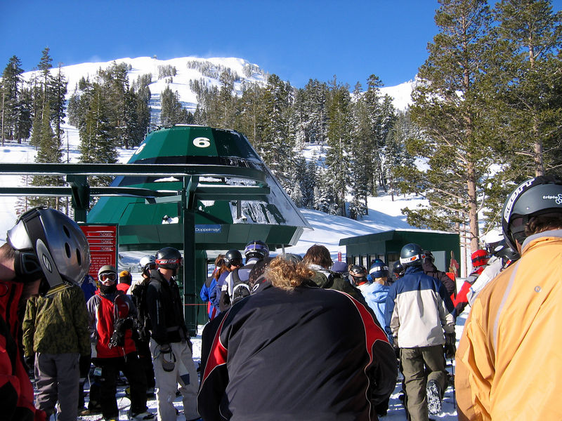 in line for first tracks