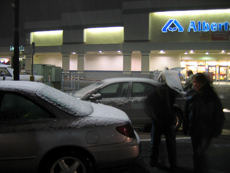 yeah, it was snowing at the Albertsons in Jackson!
