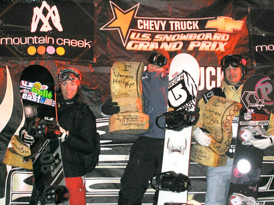 Mountain Creek Grand Prix podium Feb. 2004