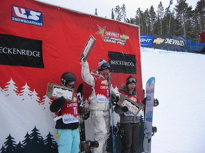 Breckenridge Grand Prix podium Dec. 2005