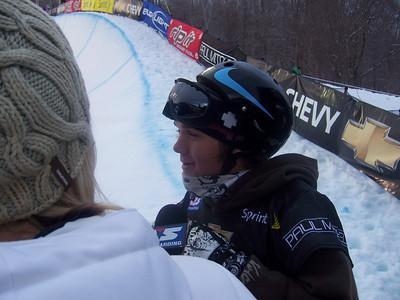 Louie Vito (Columbus, OH/Sandy, UT) after nailing his winning run at the Chevy U.S. Snowboarding Grand Prix. Photo: Lindsey Sine/U.S. Snowboarding