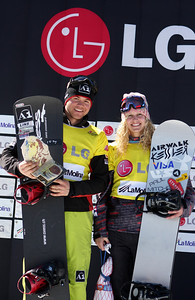 Lindsey Jacobellis (right) Photo © Oliver Kraus - FIS Image may be used for editorial use only